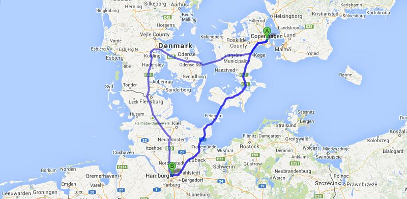 Kart danmark tyskland