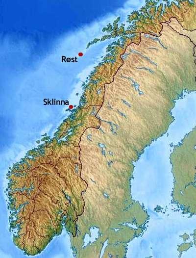 kart over røst Kureren   Forskere finner 149 miljøgifter i norsk sjøfugl kart over røst